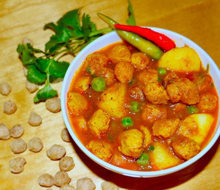 soya aloo curry.