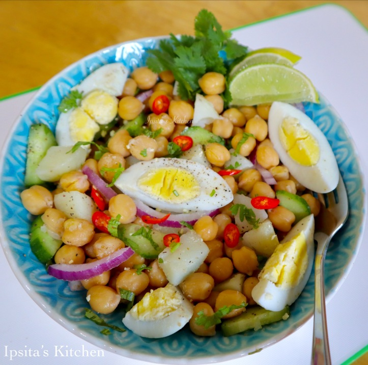chickpea and egg salad.